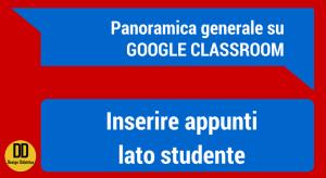 classroom inserire appunti