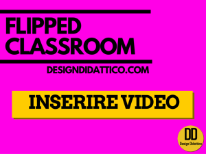 flipped inserire video