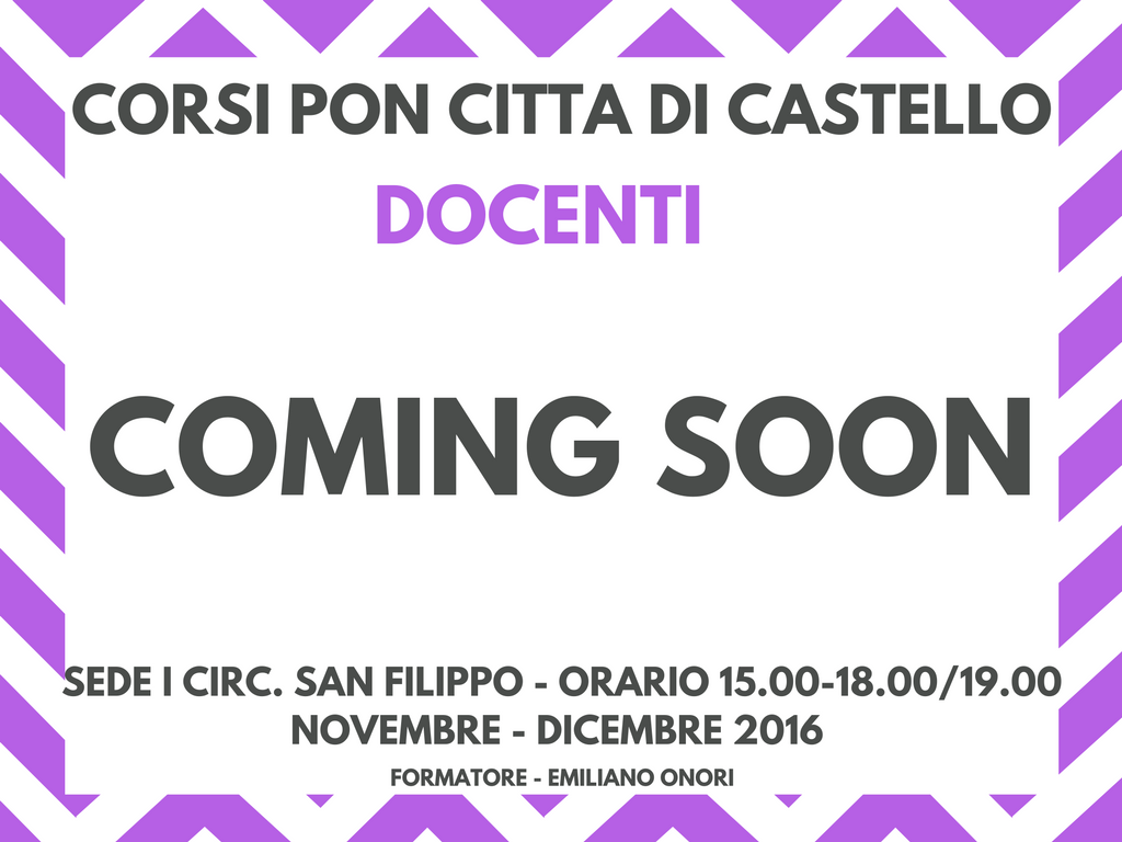 corsi-pon-cdc-coming-soon