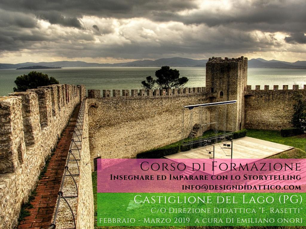 Corso sul Digital Storytelling a Castiglione del Lago (PG) Febbraio – Marzo 2019