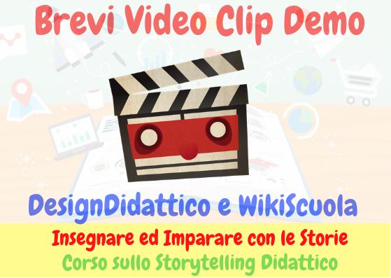 Brevi Video Clip Promo del Corso sullo Storytelling Digitale