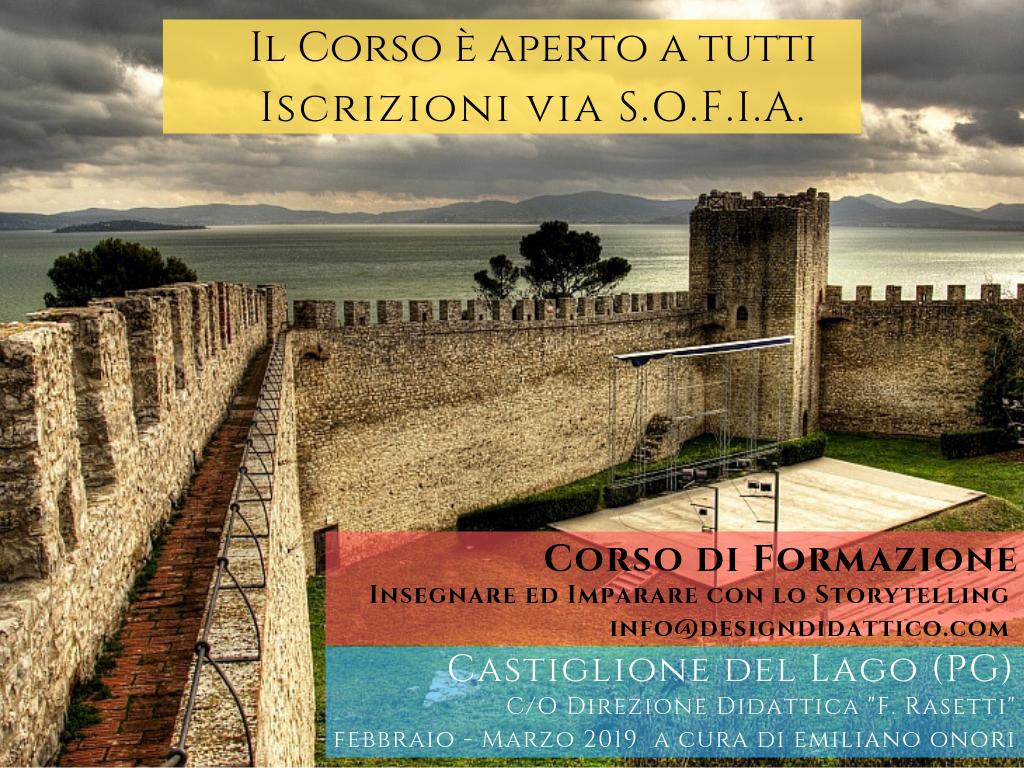 Corso sul Digital Storytelling aperto a tutti. Castiglione del Lago (PG) Febbraio-Marzo 2019