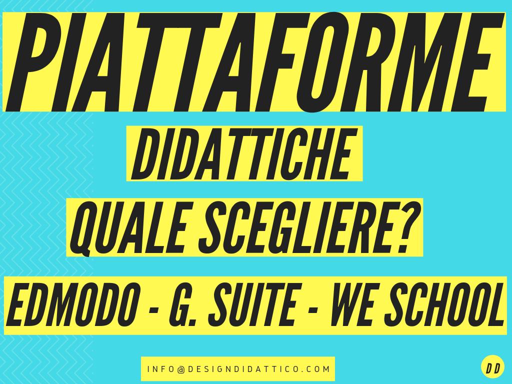 Piattaforme Didattiche: quale scegliere tra Edmodo, We School e G Suite?